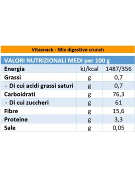 Mix digestive crunch (mela e papaya) Vitasnack