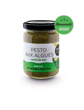Pesto allle alghe verde (lattuga e basilico) BIO (120g)