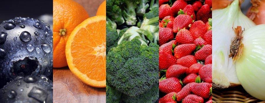 frutta e verdura i 5 colori